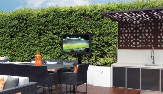 SealTV outdoor TV cover installed