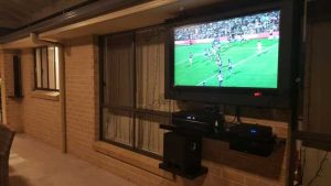 Mark's 50 inch outdoor tv and enclosure