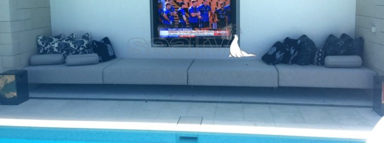 Outdoor Television by the pool
