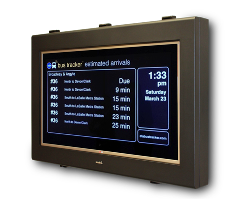 42 inch outdoor signage combining an LG monitor with a SealTV Enclosure