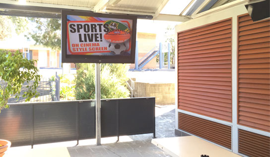 SealTV outdoor enclosure installed at The Oaks